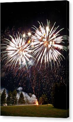 Fireworks No.5 Canvas Print by Niels Nielsen
