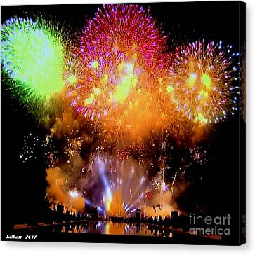 Fireworks On July 14 By Taikan Canvas Print