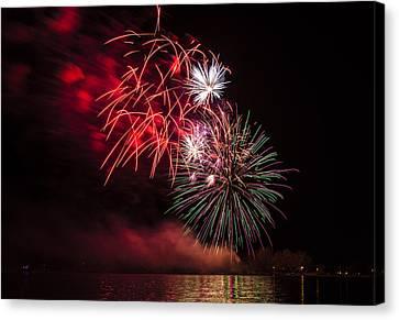 Fireworks On Lake Ontario Canvas Print
