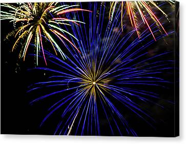 Pyrotechnic Canvas Print - Fireworks On The 4th by Marnie Patchett