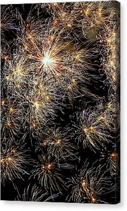 Canvas Print featuring the photograph Fireworks by Suzanne Stout