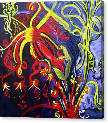 Fireworks Three Canvas Print by Rebecca Merola