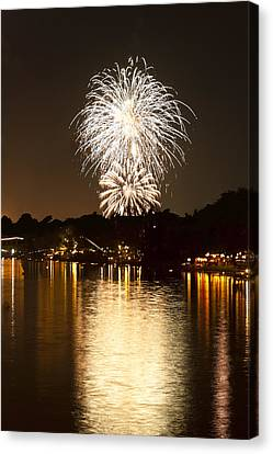 Pyrotechnics Canvas Print - Fireworks by U Schade