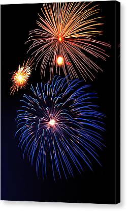 Fireworks Wixom 1 Canvas Print by Michael Peychich