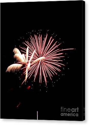 Fireworks7 Canvas Print by Malcolm Howard