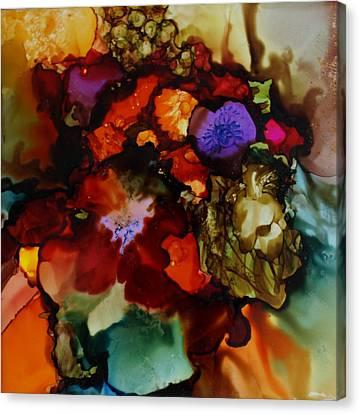 Firey Floral Canvas Print by Joanne Smoley