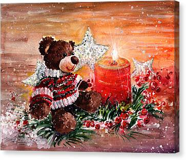 First Advent For Truffle Mcfurry Canvas Print by Miki De Goodaboom
