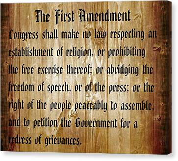 Founding Fathers Canvas Print - First Amendment Barn Door by Dan Sproul