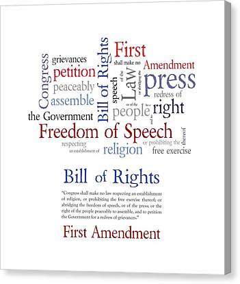 First Amendment Freedom Of Speech Canvas Print by Antique Images