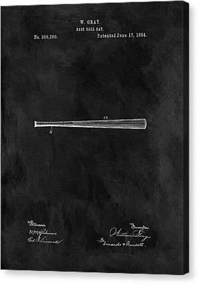 First Baseball Bat Patent Canvas Print