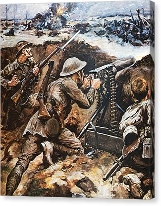 First Battle Of The Somme Canvas Print by Stanley L Wood