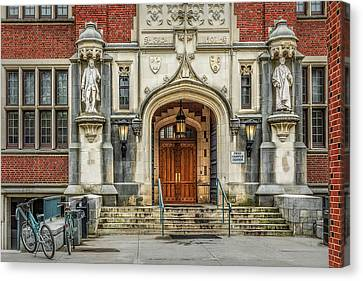 Canvas Print featuring the photograph First Campus Center Princeton University by Susan Candelario