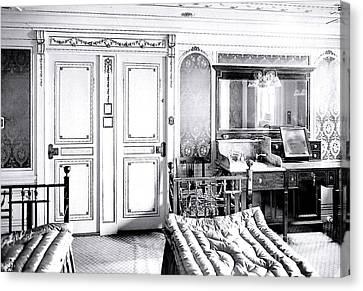 First Class Stateroom C65 On Titanic Canvas Print