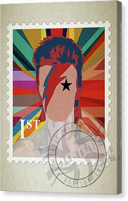 First Class Bowie - Union Canvas Print by Big Fat Arts