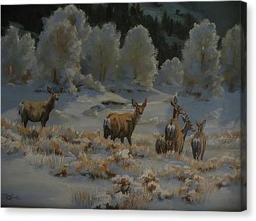 Art Of Mia Delode Canvas Print - First Cold Snap by Mia DeLode