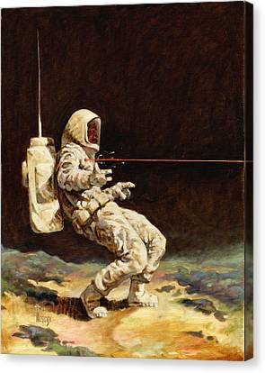 First Contact Canvas Print by Richard Hescox