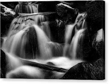 first crystals on the Bodefall, Harz Canvas Print