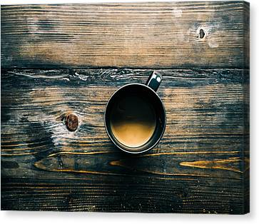 First Cup Of The Day Canvas Print