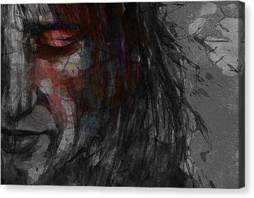 Roll Canvas Print - First Cut Is The Deepest Rod Stewart  by Paul Lovering