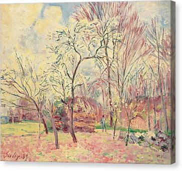 First Day Of Spring In Moret, 1889 Canvas Print