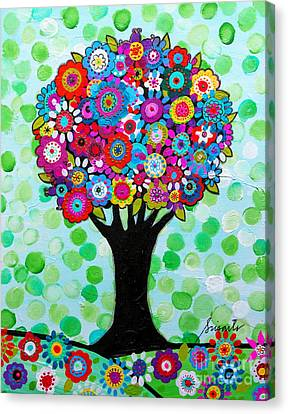 Canvas Print featuring the painting First Day Of Spring by Pristine Cartera Turkus