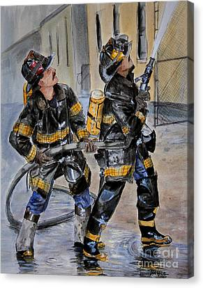 First Due-engine  73 Canvas Print by Paul Walsh