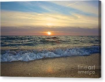 First Encounter Beach Canvas Print