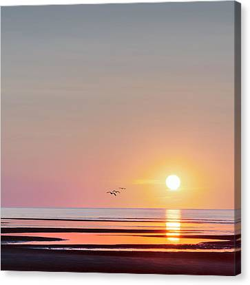First Encounter Beach Cape Cod Square Canvas Print