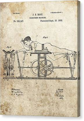 First Exercise Machine Patent Canvas Print