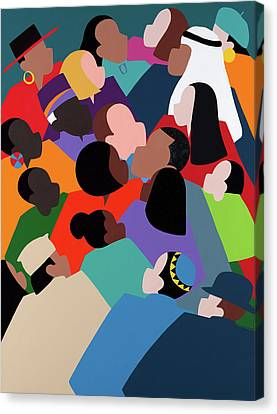 Canvas Print - First Family The Obamas by Synthia SAINT JAMES