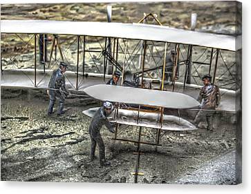 First Flight Wright Brothers Canvas Print by Randy Steele