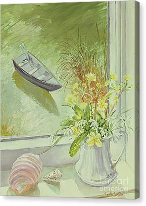 First Flowers And Shells Canvas Print by Timothy Easton