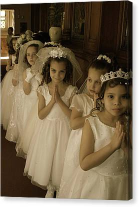 First Holy Communion Canvas Print