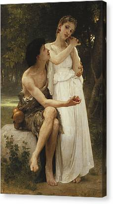 First Jewellery Canvas Print by William Adolphe Bouguereau