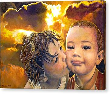 Canvas Print - First Kiss by Michael Durst