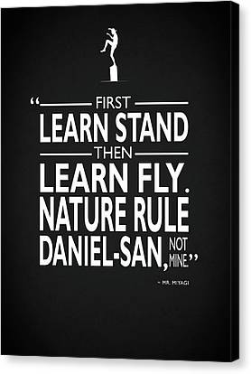 Karate Canvas Print - First Learn Stand by Mark Rogan