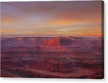 Canvas Print featuring the photograph First Light At Horseshoe Bend by Marie Leslie