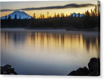 Canvas Print featuring the photograph First Light At Lava Lake by Cat Connor