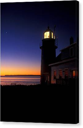 First Light At Quoddy Head Canvas Print by John Burk