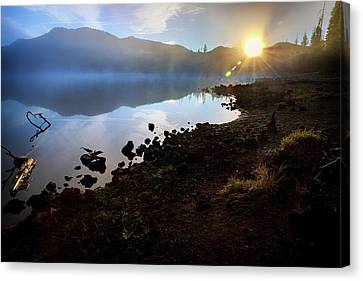 Canvas Print featuring the photograph Daybreak by Cat Connor