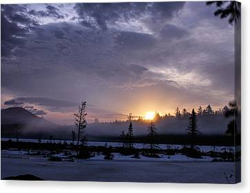 First Light At Wolf Pond Canvas Print