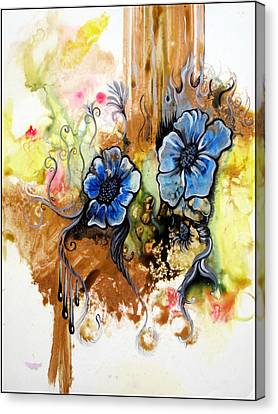 Drips Canvas Print - First Light In The Garden Of Eden II by Shadia Derbyshire