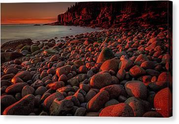 First Light On A Maine Coast Canvas Print by Tim Bryan