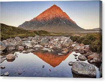 First Light On Buachaille Etive Mor Canvas Print by Colin and Linda McKie