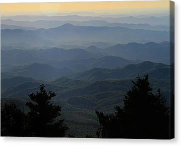 First Light On The Blue Ridge Parkway Canvas Print