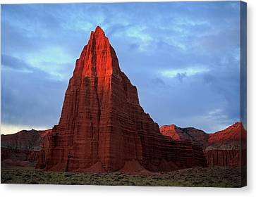 Canvas Print featuring the photograph First Light On The Temple Of The Sun. by Johnny Adolphson