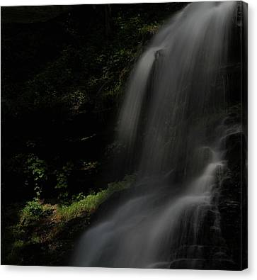 Silk Water Canvas Print - First Light Waterfall by Dan Sproul
