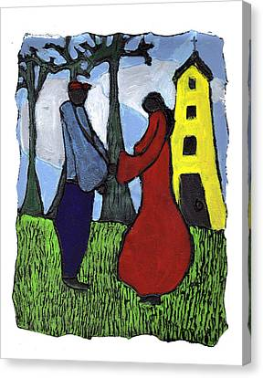 First Love Canvas Print by Wayne Potrafka