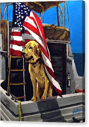 Canvas Print featuring the painting First Mate by Jim Phillips
