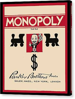 First Monopoly Cover Canvas Print by Paul Van Scott